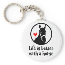 Cute Horse Lover Farm Western Cowgirl Pony Rodeo Keychain