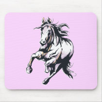 Cute Horse Lover Gift Equestrian Horseback Riding Mouse Pad