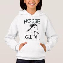 Cute Horse Lover  Horses Equestrian Cowgirl  Farm Hoodie