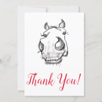 Cute horse lover's Thank You Card