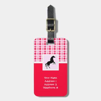 Cute Horse Luggage Tag