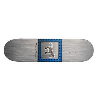 Cute Horse; Metal-look Custom Skateboard