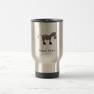 Cute Horse; Metal-look Travel Mug