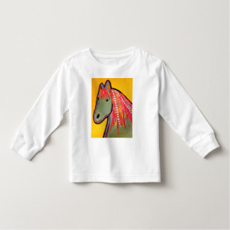 Cute Horse on Toddler Long Sleeve T-Shirt