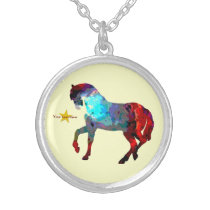 Cute Horse Photo Necklace