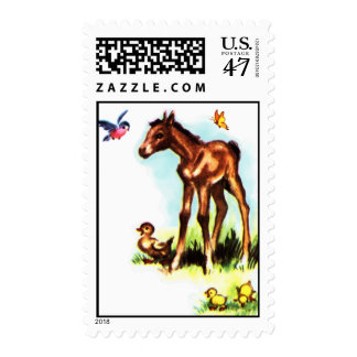 Cute Horse Pony Baby Foal Postage