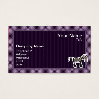 Cute Horse; Purple Business Card