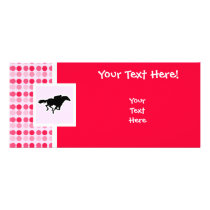 Cute Horse Racing Rack Card