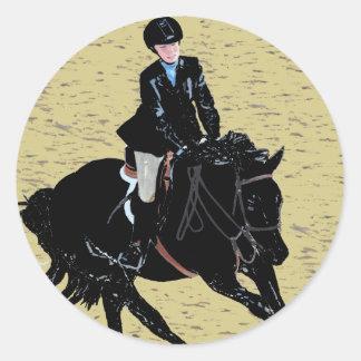 Cute Horse Show Equestrian Classic Round Sticker