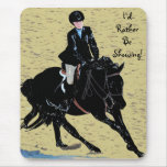 Cute Horse Show Equestrian Mouse Pad