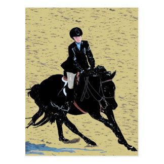 Cute Horse Show Equestrian Postcard