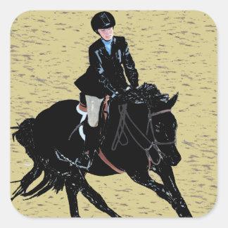 Cute Horse Show Equestrian Square Sticker
