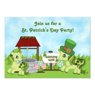 Cute Horse St. Patrick's Day Party Invitations