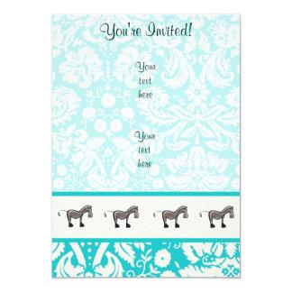 Cute Horse; Teal Card