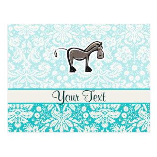 Cute Horse; Teal Postcard