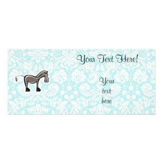 Cute Horse; Teal Rack Card Design