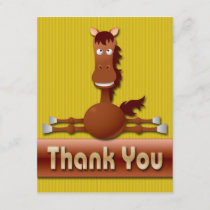 CUTE HORSE THANK YOU NOTE CARDS