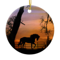 Cute Horse Xmas Ornament
