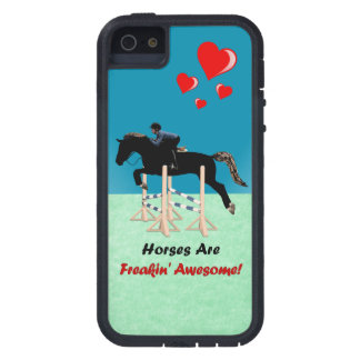 Cute Horses Are Freakin Awesome iPhone SE/5/5s Case