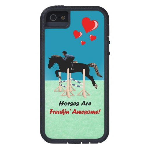 Cute Horses Are Freakin Awesome iPhone SE/5/5s Case : Zazzle