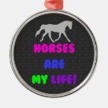Cute Horses Are My Life Ornament