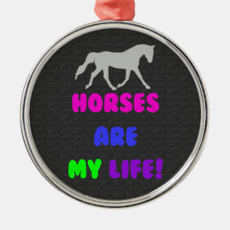 Cute Horses Are My Life Ornament