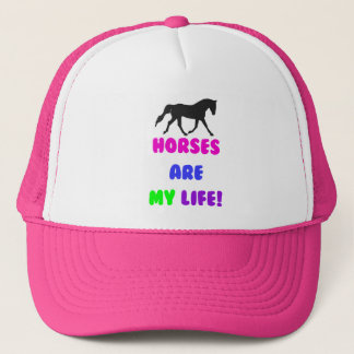 Cute Horses Are My Life Trucker Hat