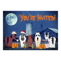 Cute Horses in Costumes ~ Horse Halloween Party Invitation