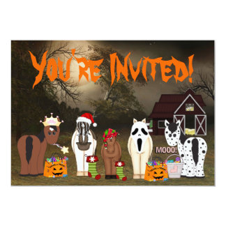 Cute Horsey Halloween Holiday Party Invitation
