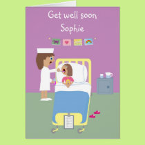 Cute Hospital Get Well Soon card