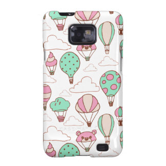Cute Hot Air Balloons Pattern Samsung Galaxy SII Cases