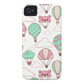 Cute Hot Air Balloons Pattern iPhone 4 Case