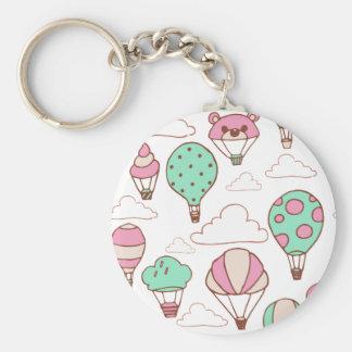 Cute Hot Air Balloons Pattern Key Chains