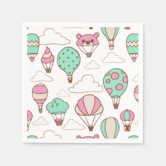 Cute Hot Air Balloons Pattern Paper Napkin