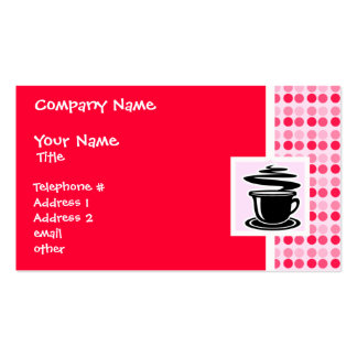 Cute Hot Coffee Double-Sided Standard Business Cards (Pack Of 100)