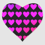Cute hot pink and purple hearts sticker