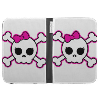 Cute Hot Pink Bow Skull Kindle Keyboard Cases