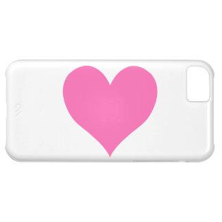 Cute Hot Pink Heart iPhone 5C Case