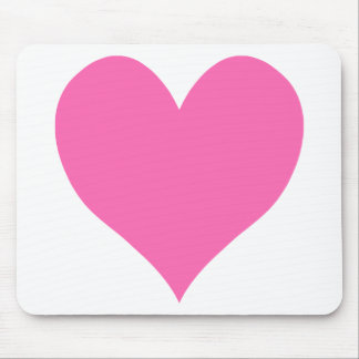 Cute Hot Pink Heart Mouse Pad