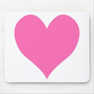 Cute Hot Pink Heart Mousepad