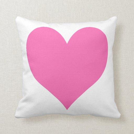 Cute Hot Pink Heart Throw Pillows