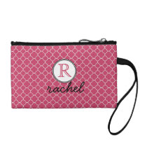 Cute Hot Pink Modern Personalized Change Purse