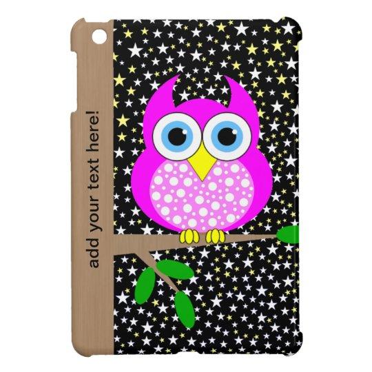 cute hot pink owl iPad mini covers
