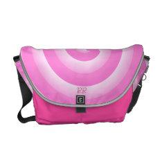 Cute Hot Pink Spiral Monogram Messenger Bag at Zazzle