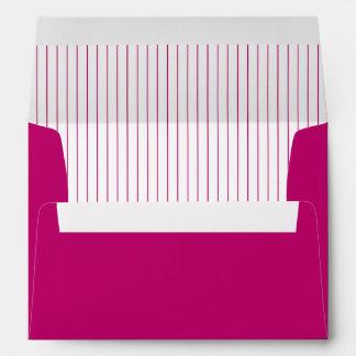 Cute Hot Pink Striped Envelope