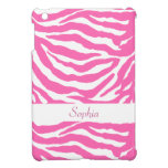 Cute Hot Pink Zebra Stripes Girly iPad Mini Case
