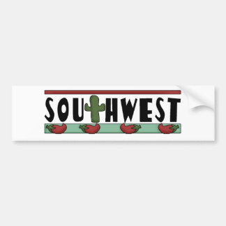Cute Hot Red Chili Peppers - American Southwest Bumper Sticker
