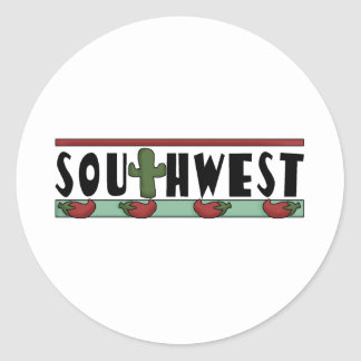 Cute Hot Red Chili Peppers - American Southwest Classic Round Sticker