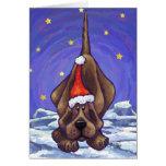 Cute Hound Dog Holiday Card