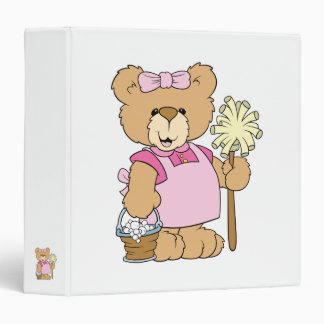 Cute House Cleaning Bear Binder
